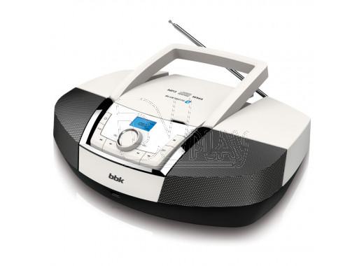 Магнитола BBK BX519BT белый металик (Bluetooth)