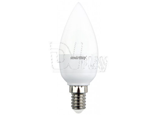 Светодиодная Лампа Smartbuy C37 Е14 7Вт холодный дневной свет