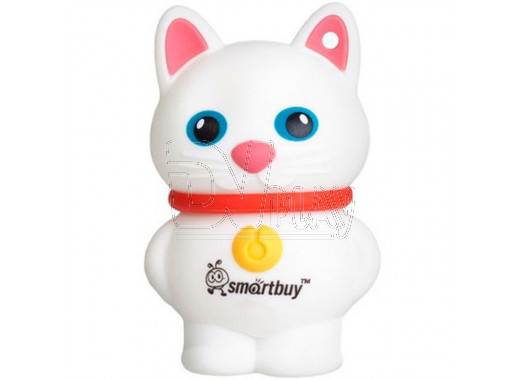 USB Flash 32Gb Smart Buy Wild series Catty белая