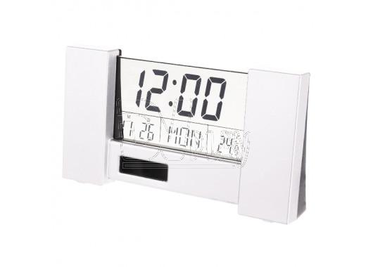 Часы-будильник Perfeo City белые