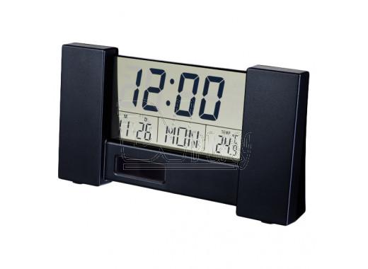 Часы-будильник Perfeo City черные