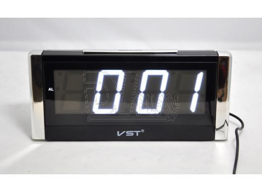 VST 731-6 часы настольные с белыми цифрами