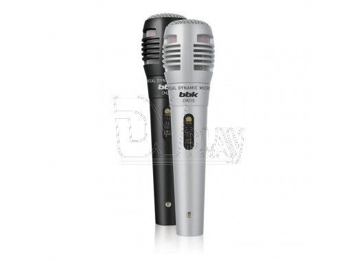 Микрофон BBK CM 215 (комплект 2 шт) черный/серый