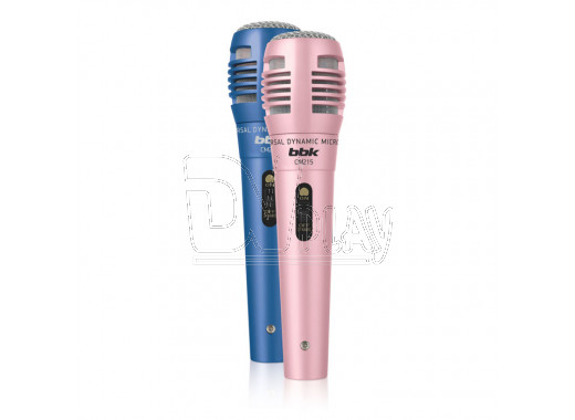 Микрофон BBK CM 215 (комплект 2 шт) синий/розовый
