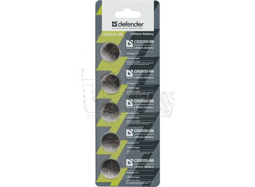 Defender CR2032 BL5 упаковка 5шт