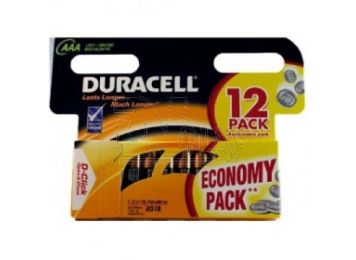 Duracell LR03 AAA BP12 упаковка 12шт