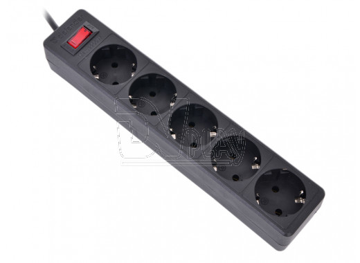 Сетевой фильтр Defender ES (5 розеток, 3 м) черный