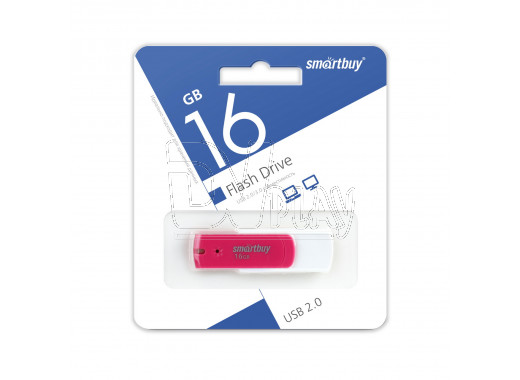 USB Flash 16Gb Smart Buy Diamond розовый