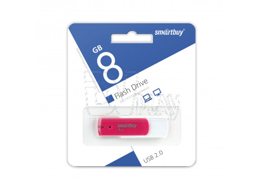 USB Flash 8Gb Smart Buy Diamond розовый