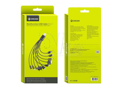 Универсальный зарядный кабель Dream USB 10-in-1