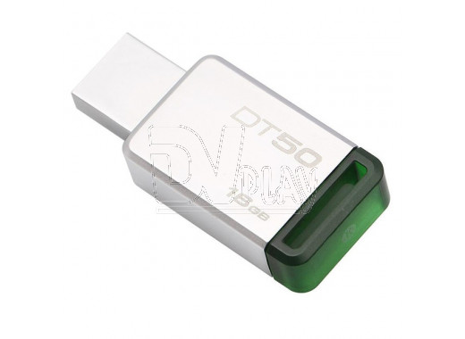 USB Flash 16Gb Kingston Data Traveler 50 металл-зеленая 3.0