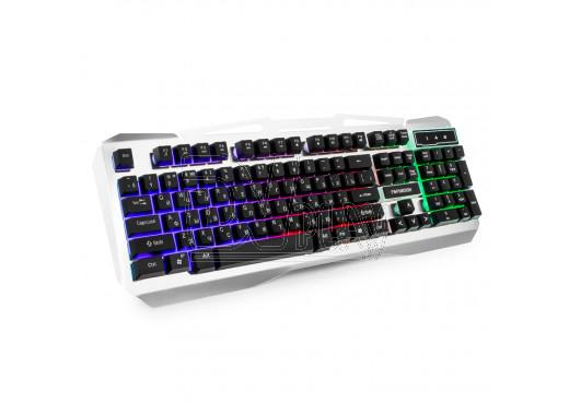 Клавиатура игровая Гарнизон GK-500G черно-серая с подсветкой