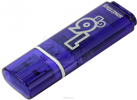 USB Flash 16Gb Smart Buy Glossy темно-синяя 3.0
