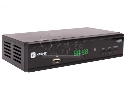 Harper HDT2-2015 приставка DVB-T2 с дисплеем + кабель 3RCA