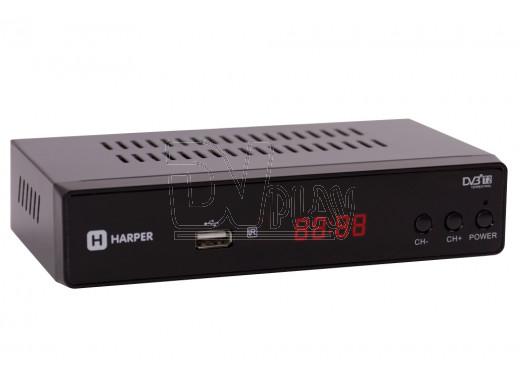 Harper HDT2-5050 приставка DVB-T2 с дисплеем + кабель HDMI, 3RCA