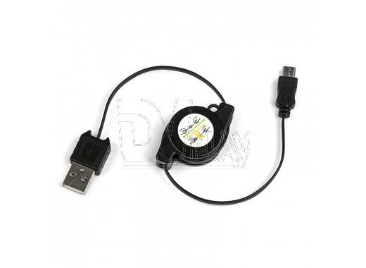 Кабель USB A - micro USB B (0,8 м) рулетка Dialog