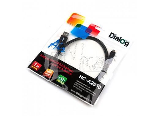 Кабель USB A - mini USB B (1 м) Dialog в пакете