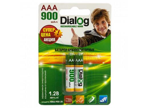 Аккумуляторы Dialog HR03 900mAh NiMH BL2 AAA в упаковке 2 шт