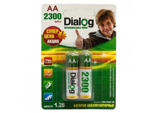 Аккумуляторы Dialog HR6 2300mAh NiMH BL2 AA в упаковке 2 шт