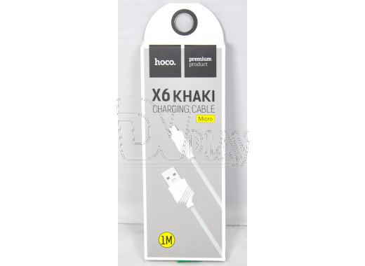 Кабель USB A - micro USB B (1 м) Hoco. X6