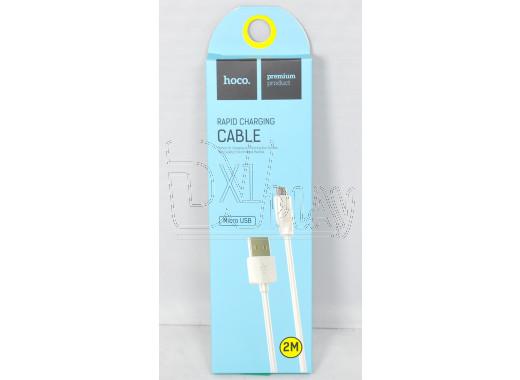 Кабель USB A - micro USB B (2 м) Hoco. X1