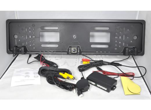 Камера заднего вида - рамка номера CCD808 с парктроником