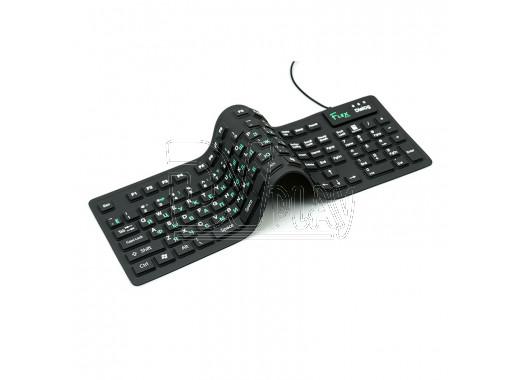 Клавиатура Dialog Flex KFX-05U гибкая черная