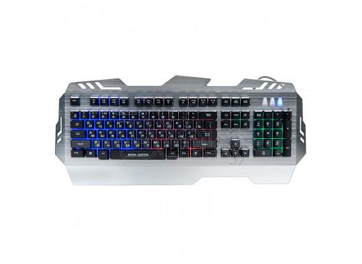 Клавиатура игровая Dialog KGK-29U Gan-Kata серебряная с подсветкой