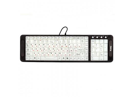 Клавиатура Dialog Multimedia KK-L04U черная с подсветкой