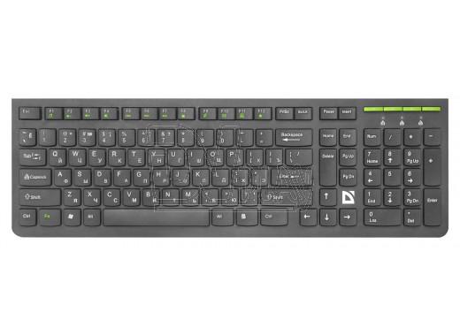 Клавиатура Defender UltraMate SM-536 беспроводная черная