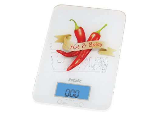 Электронные весы кухонные BBK KS106G бело-красные
