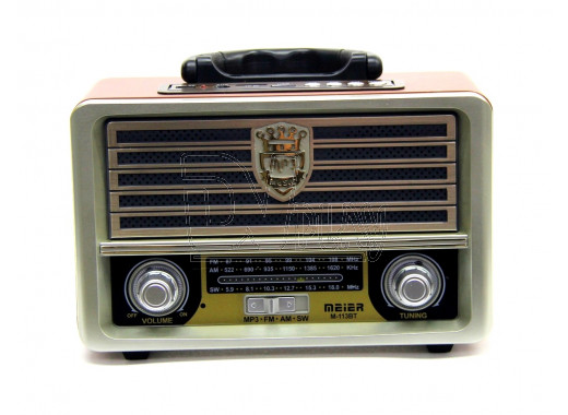 Радиоприемник Meier M-113BT (Bluetooth\USB\ MP3\microSD\220V)