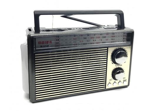 Радиоприемник Meier M-U120 (USB\SD\MP3\220V) + фонарик