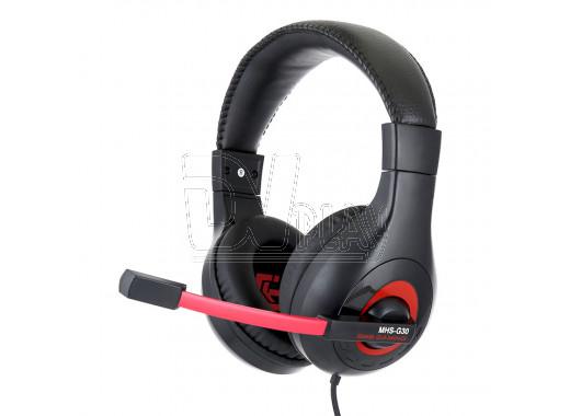 Gembird MHS-G30 гарнитура игровая черно-красная