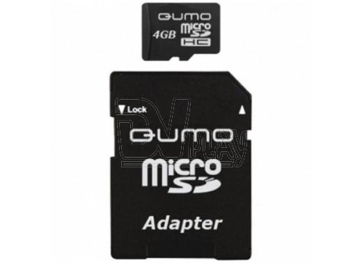 microSD 4Gb Qumo Class 10 с адаптером