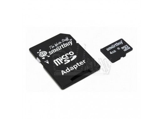 microSD 4Gb Smart Buy Class 10 с адаптером
