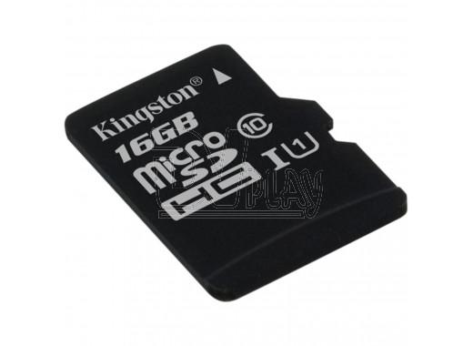 microSDHC 16Gb Kingston Class 10 UHS-I без адаптера