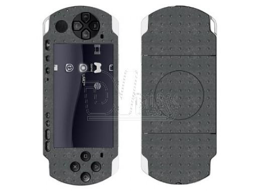 Наклейки декоративные, на кнопки PSP Slim металлические