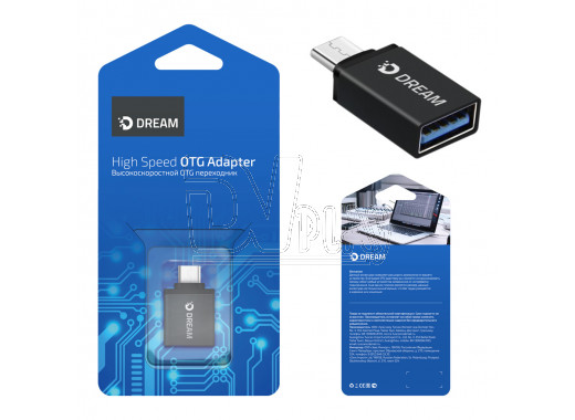 Переходник Dream OTG Type-C (M) - USB (F) OTG