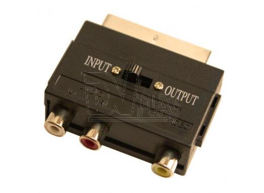 Переходник SCART - 3xRCA с переключателем