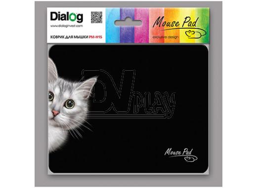 Коврик Dialog PM-H15 черный с кошкой