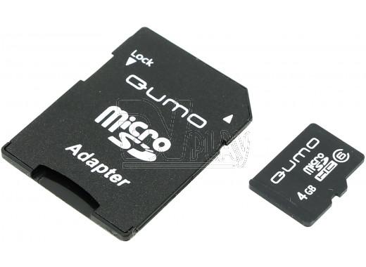 microSD 4Gb Qumo Class 6 с адаптером