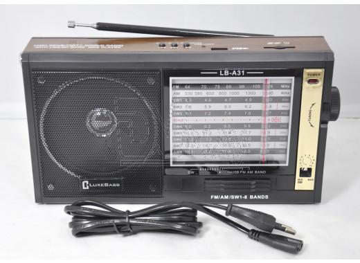 Радиоприемник LUXEBASS A31 (USB\SD\MP3)