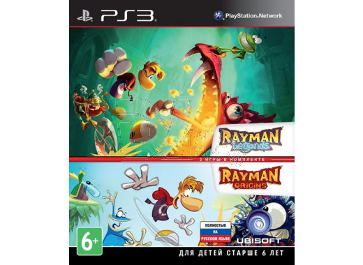 Rayman Legends + Rayman Origins (русская версия) (PS3)