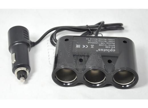 Разветвитель автомобильного прикуривателя Eplutus FC-330