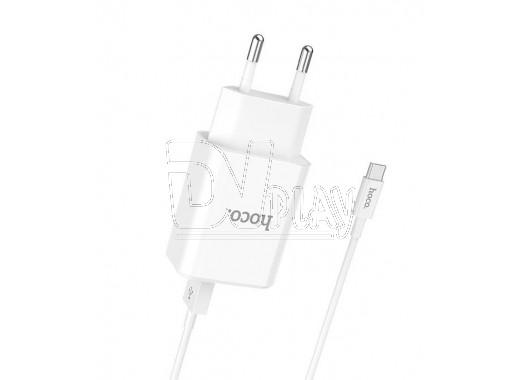 Зарядное устройство 2 USB 2.1A Hoco. C62A + кабель Type-C