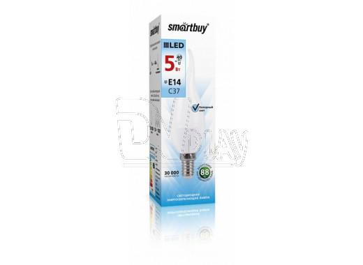 Светодиодная Лампа Smartbuy C37 CANDLE Е14 7Вт белый свет