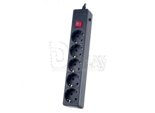 Сетевой фильтр Perfeo Power+ (5 розеток, 3 м) черный