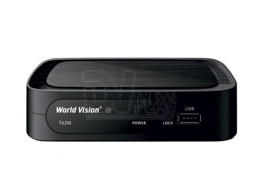 World Vision T62M DVB-T2/C + кабель 3RCA
