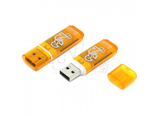USB Flash 32Gb Smart Buy Glossy оранжевая
